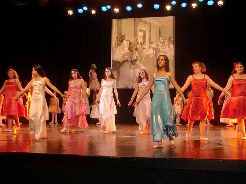 le professeur de danse et ses élèves